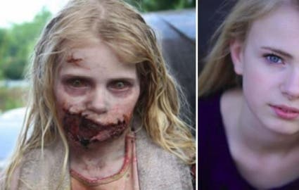 Photo : 12 zombies before and after their makeup for The Walking Dead