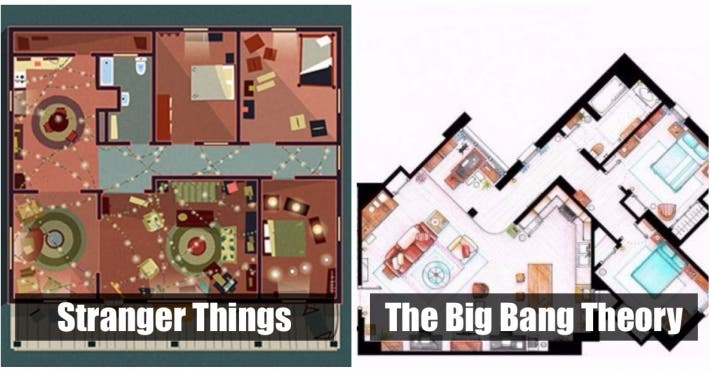 Photo : 10 very realistic sketches of the apartments you've seen on TV shows!