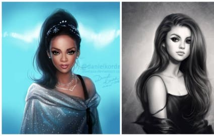 Photo : What would some celebrities look like if they were Disney characters?