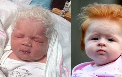 Photo : 14 babies born with a lot of hair!