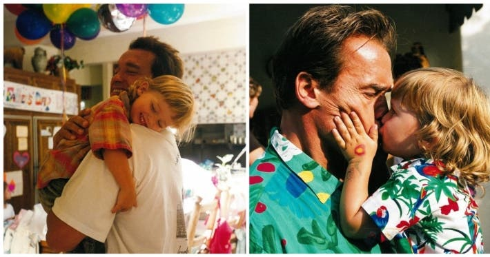 Photo : 15 photos of Arnold Schwarzenegger being an awesome dad