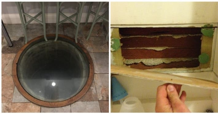 Photo : 18 people who found a surprise when they moved into a new home